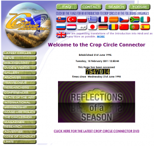 Crop Circle Connector layout design - international language selector