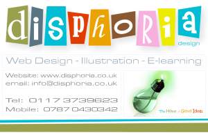 Disphoria Design 2012 business card